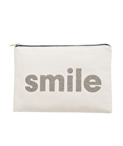 Smile - Large Canvas Pouch