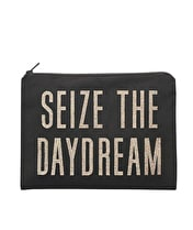 Seize the Daydream - Black Canvas Pouch