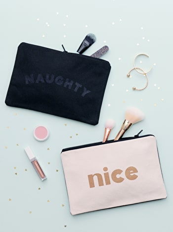 Photo of Naughty/Nice - Double-sided Pouch
