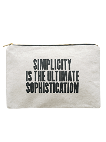 Photo of Simplicity - Large Canvas Pouch