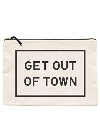 Get Out of Town XL Pouch | Passport Document Holder | Alphabet Bags
