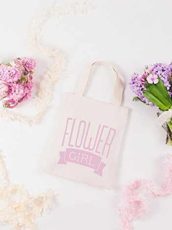 Flower Girl Tote Bag | Bride Cotton Tote | Alphabet Bags