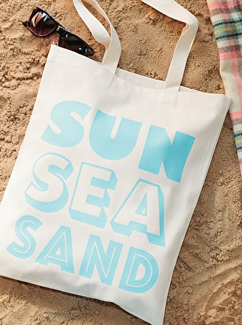 Sun, Sea, Sand Cotton Bag | Beach Totes | Alphabet Bags