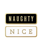 Naughty/Nice - Enamel Pin Set