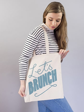 Photo of Let's Brunch - Cotton Tote Bag