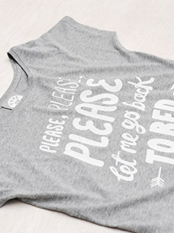 Photo of Back to Bed - Grey Womens T-Shirt