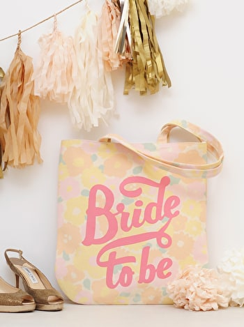 Photo of Bride To Be - Floral Canvas Wedding Bag