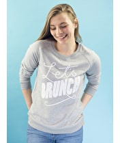 Let's Brunch - Grey Sweatshirt