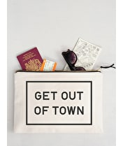 Get Out of Town - Extra Large Travel Pouch