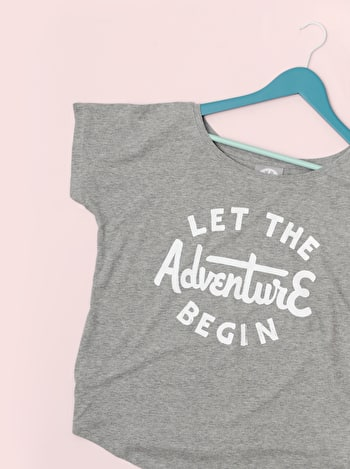 Let The Adventure Begin | Womens T Shirt | Alphabet Bags