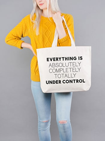 Photo of Under Control - Big Canvas Tote Bag