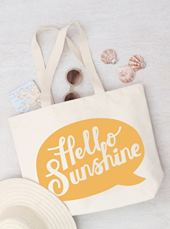 Hello Sunshine Canvas Bag | Beach Bags | Alphabet Bags