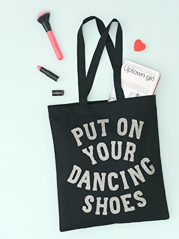Photo of Put On Your Dancing Shoes Glitter - Cotton Tote Bag
