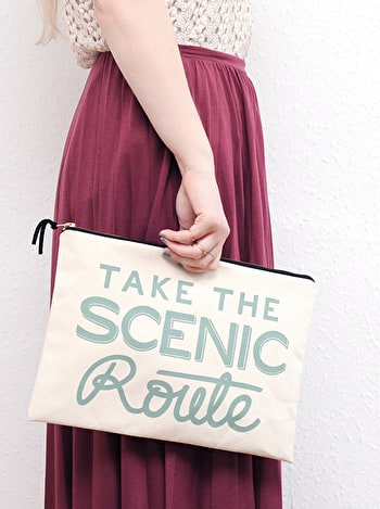 Photo of Take the Scenic Route - Extra Large Travel Pouch