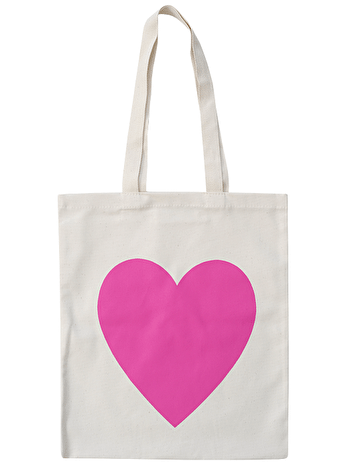 Heart Hot Pink - Cotton Tote Bag