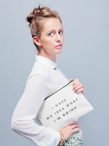 Photo of I Have No Idea - Large Canvas Pouch
