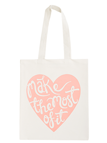 Make The Most Of It Tote Bag | Canvas Tote Bag | Alphabet Bags