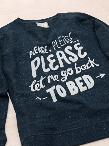 Back To Bed Womens Sweatshirt | Printed Slogan Sweatshirt | Alphabet Bags