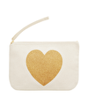 Heart Gold Glitter - Wedding Pouch