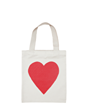 Heart - Mini Cotton Tote Bag