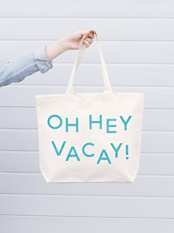 Oh Hey Vacay Canvas Bag | Beach Bags | Alphabet Bags