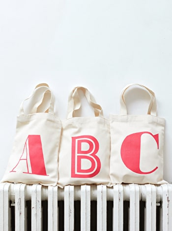 Photo of Initial Cotton Tote Bag - Mini