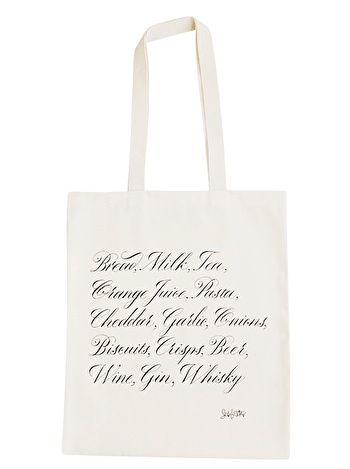 Shopping List - Seb Lester for Alphabet Bags