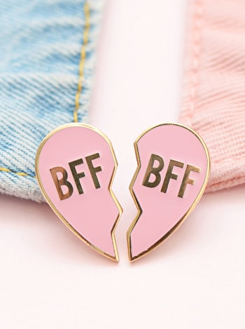 BFF Pin Set | Enamel Pin Set | Friendship Jewellery | Alphabet Bags