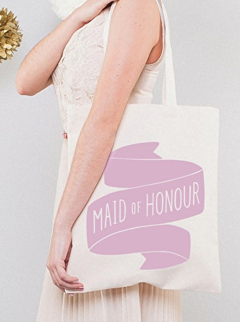 Photo of Maid of Honour Rose - Wedding Tote Bag