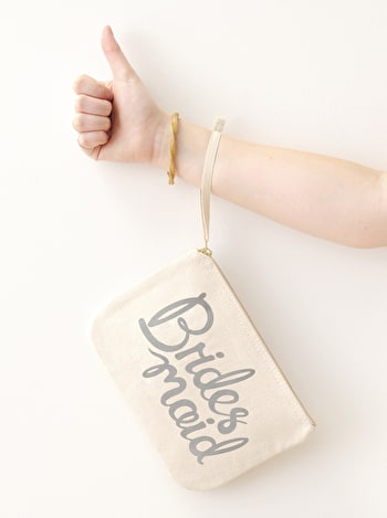 Photo of Bridesmaid Grey - Wedding Pouch