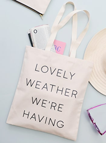Photo of Lovely Weather We're Having - Cotton Tote Bag