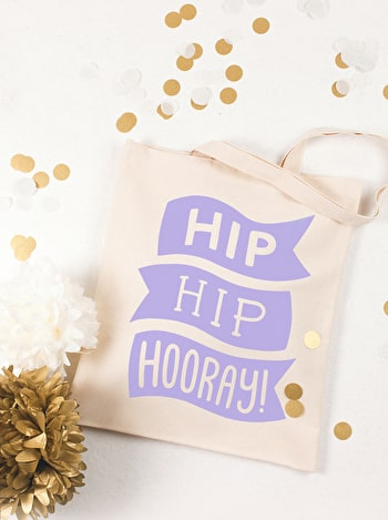 Hip Hip Hooray Tote Bag | Celebration Totes | Alphabet Bags