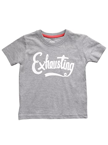 Exhausting Toddler T Shirt | Kid's Slogan Shirts | Alphabet Bags