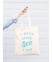 I Need Some Sea Time - Cotton Tote Bag