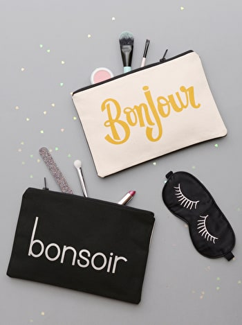 Photo of Bonjour/Bonsoir - Double-sided Pouch
