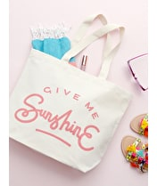 Give Me Sunshine - Big Canvas Tote Bag