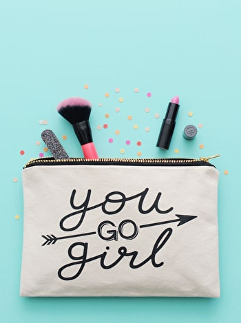 Photo of You Go Girl - Large Canvas Pouch