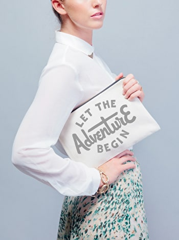 Photo of Let the Adventure Begin - Large Canvas Pouch