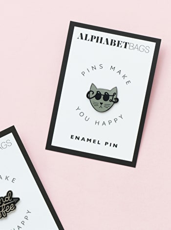 Cool Cat | Enamel Pin | Alphabet Bags