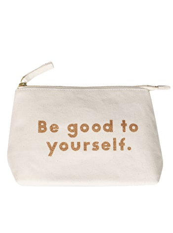 Be Good to Yourself Makeup Bag | Glitter Makeup Bag | Alphabet Bags