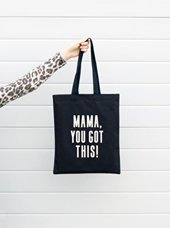 Mama You Got This Black Tote Bag | New Baby Tote Bag | Alphabet Bags