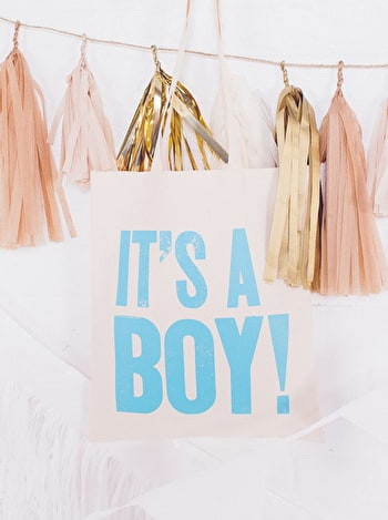 It's A Boy Tote Bag | Baby Shower Gifts | Alphabet Bags