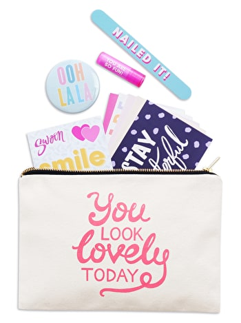 You Look Lovely Today | Canvas Goody Pouch | Alphabet Bags