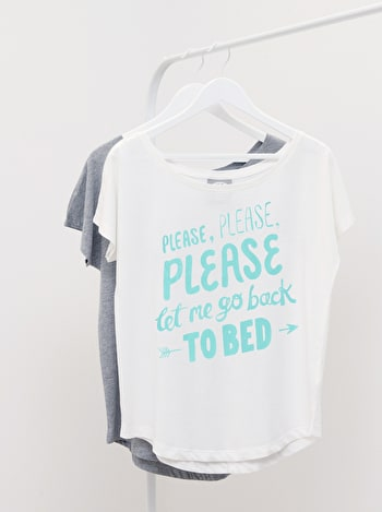Back to Bed - White Womens T-Shirt