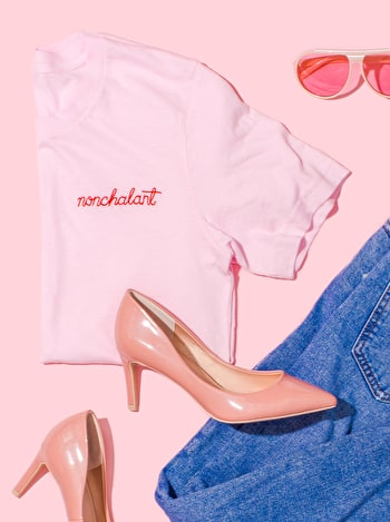 Photo of Nonchalant - Embroidered T-Shirt