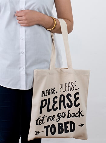 Photo of Back to Bed - Cotton Tote Bag