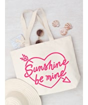 Sunshine Be Mine - Big Canvas Tote Bag