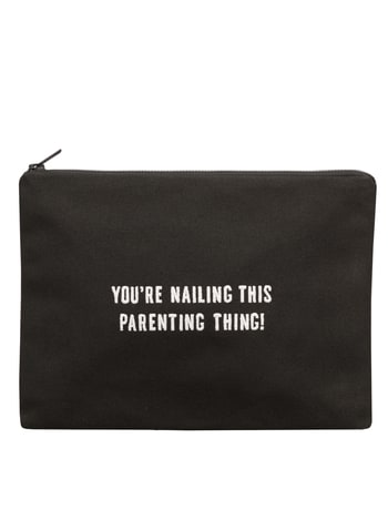 You're Nailing This Parenting Thing Canvas Pouch | Funny Mother's Day Gifts | Alphabet Bags