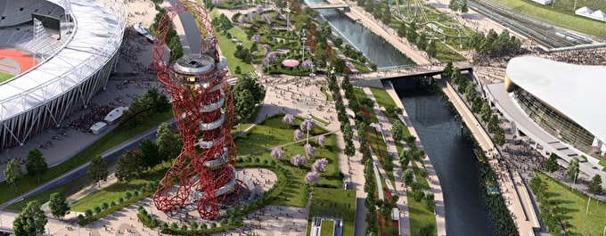 Olympic park and garden bridge to bring London new Artistic green Arteries