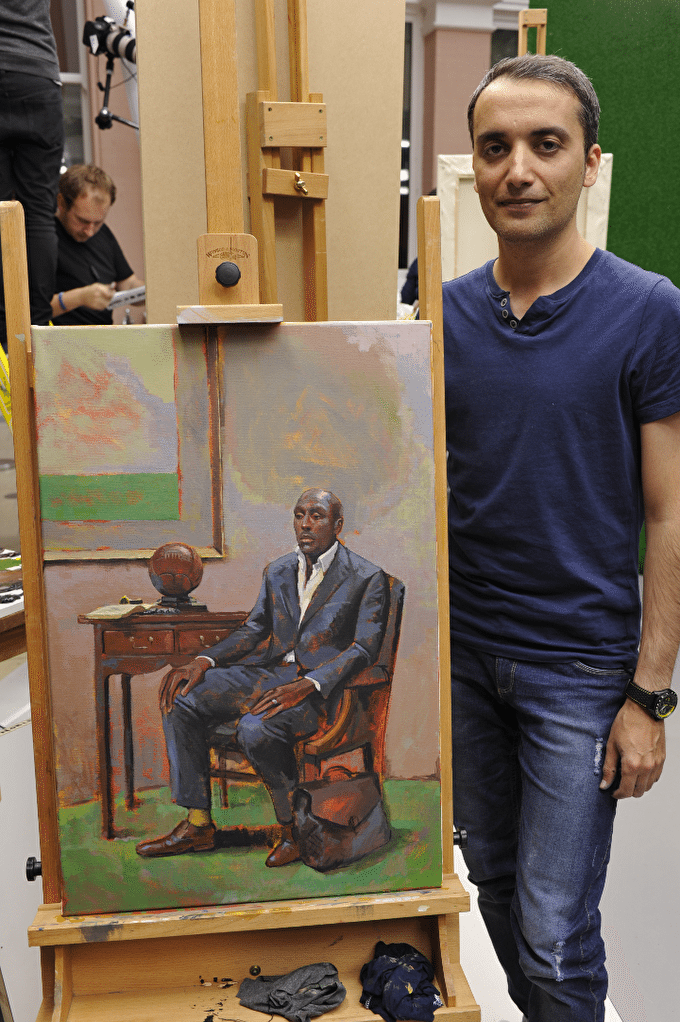 Sky Arts Portrait Artist of the Year 2014: Raoof Haghighi, First Heat Winner